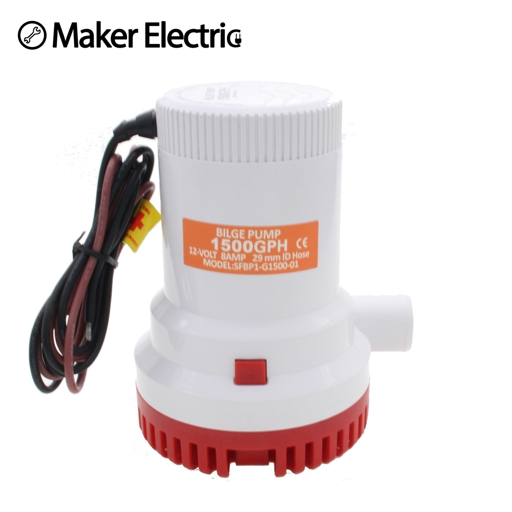 Thermo plastic Tough ABC Housing MKBP-G1500-12/24 12/24V rule 1500 gph bilge pump 1500 from maker electric china factory mkbp g3500 12 24 12 24v 3500gph submersible water sump pump cheap water pumps 24v bilge pump from china factory