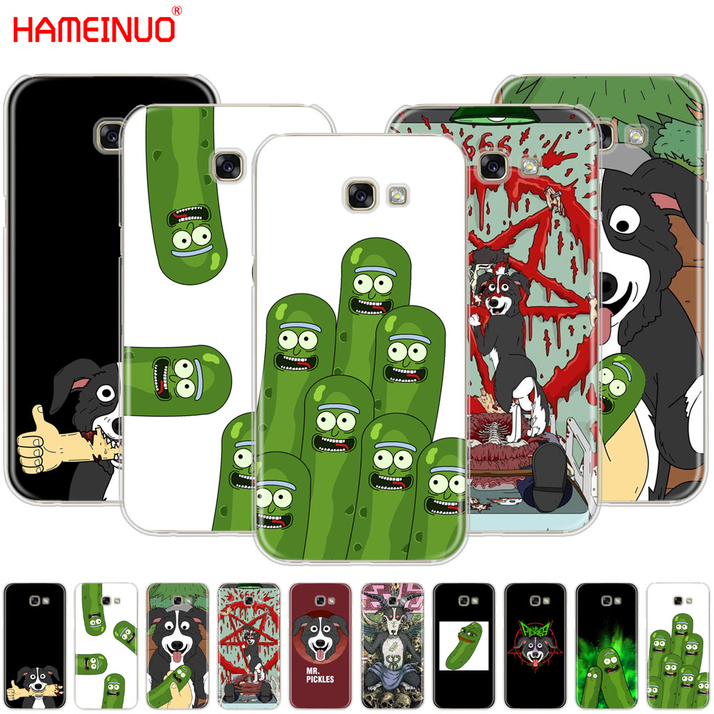 HAMEINUO mr pickles cucumber rick meme cell phone case cover for Samsung Galaxy A3 A310 A5 A510 A7 A8 A9 2016 2017 2018 image