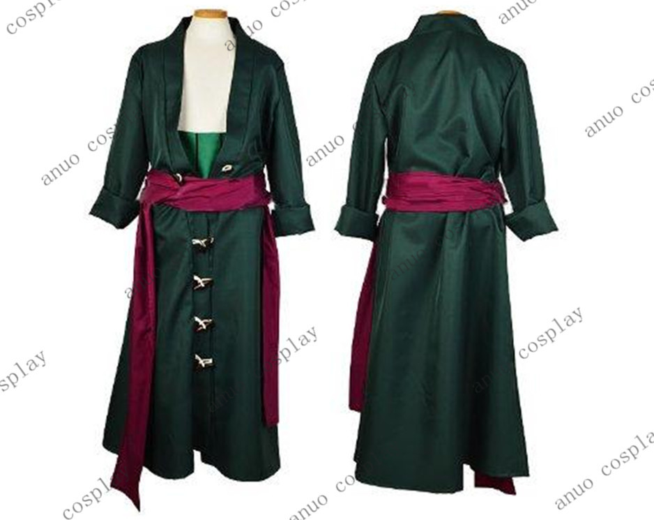 ONE PIECE Roronoa Zoro cosplay clothes after two years the cosplay men's clothing jacket pants belt girdle