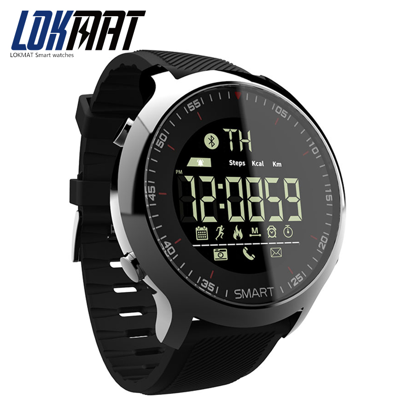 LOKMAT Smart Watch Sport Waterproof pedometers Message Reminder Bluetooth Outdoor swimming men smartwatch for ios Android phone