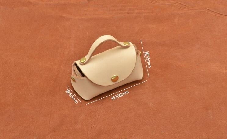 2018 FAI DA TE artigianale in pelle Mini borsa Piccola moneta sacchetto della borsa di cucito modello in pvc modello