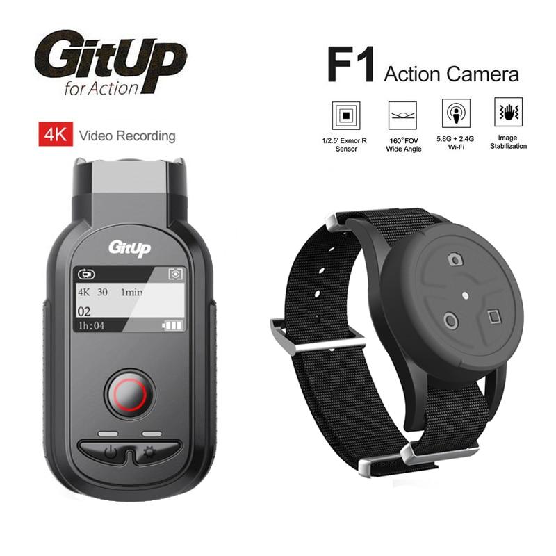 Unterhaltungselektronik Gitup F1 160 Grad 4 Karat Wifi Action Kamera Dual-band Wifi Frequenz 5,8g & 2,4g Rf Handgelenk Fernbedienung Uhr Video Recorder Sport & Action-videokamera