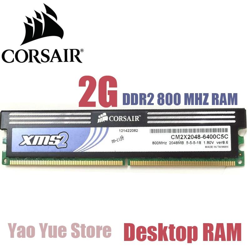 CORSAIR PC Computer desktop 2GB 2G DDR2 PC2 6400 8500 800Mhz 1066mhz DIMM memory Module RAM 4pcs 4 x 2gb ddr2 800 pc2 6400 800mhz 240pin dimm ram desktop memory only for amd motherboard
