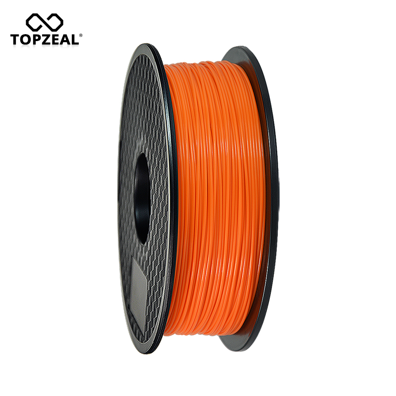 TOPZEAL 3D Filament Glow Orange in the Dark PLA Plastic Filament for 3D Printer 1.75mm 1KG Spool glow in the dark relief style protective plastic back case for iphone 4 black green