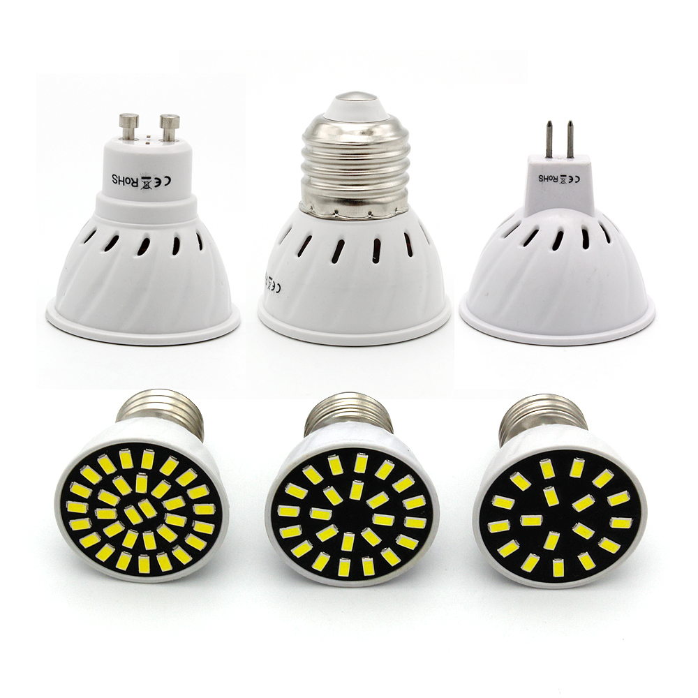 E27 MR16 GU10 LED Spotlight 220V GU5.3 Led Light 4W 6W 8W 5733 SMD Bombillas Led Lamparas Lamps For Ndoor Lighting