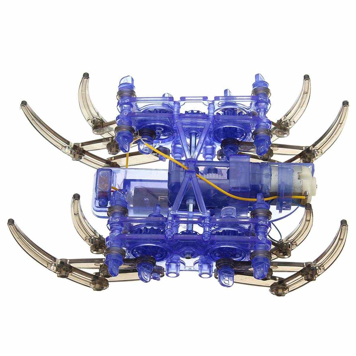 Высокое качество DIY собрать умный электрический робот паук игрушки развивающие DIY комплект, Лидер продаж сборка здания головоломки игрушки