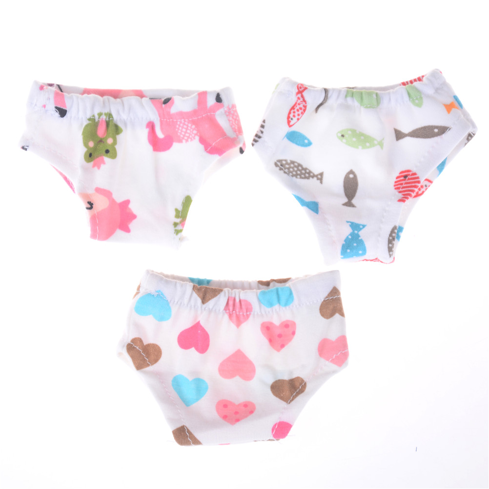 Doll Underpants Fit For 43cm Baby Doll Or 18inch  Girl Doll Clothes Underpants For   Doll