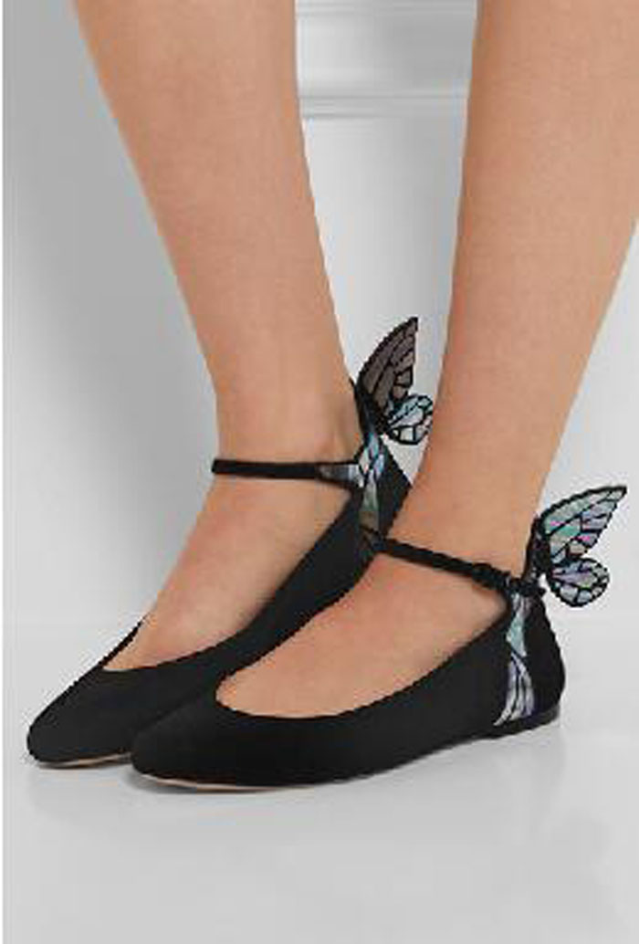 New Nice Autumn Winter Women Flats Shallow Mouth Back Heel Wing Flat Heels Buckle Strap Closed Toe Ladies Shoes Zapatos Mujer