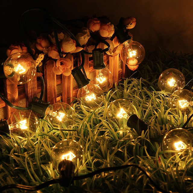 Party String Lights with 25 G40 Bulbs - String decoration lights Outdoor globe String Lights & Party String Lights with 25 G40 Bulbs String decoration lights ...