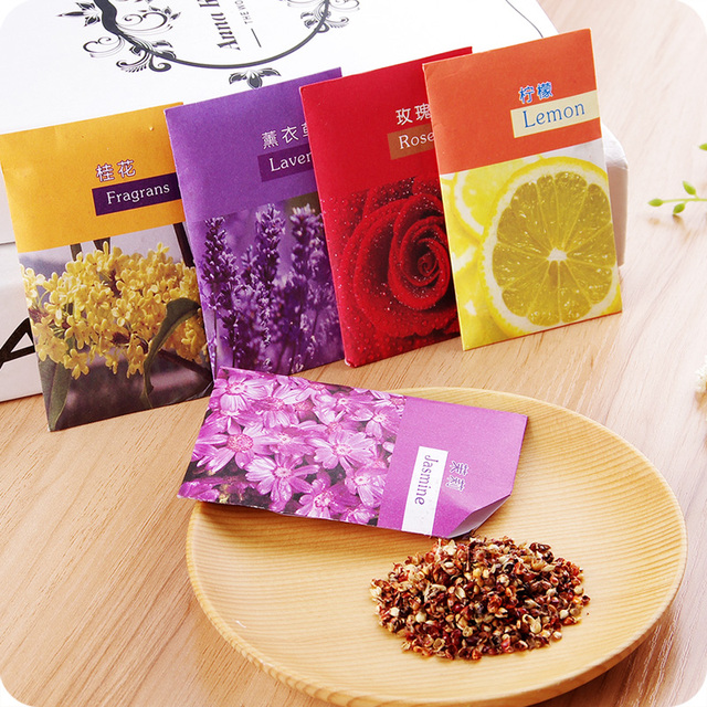 1pc Deodorant Wardrobe Closet Sachets Car Sachet Dried Clothes Damp Mildew  Odor Fragrance Sachet Olor Refrigerador
