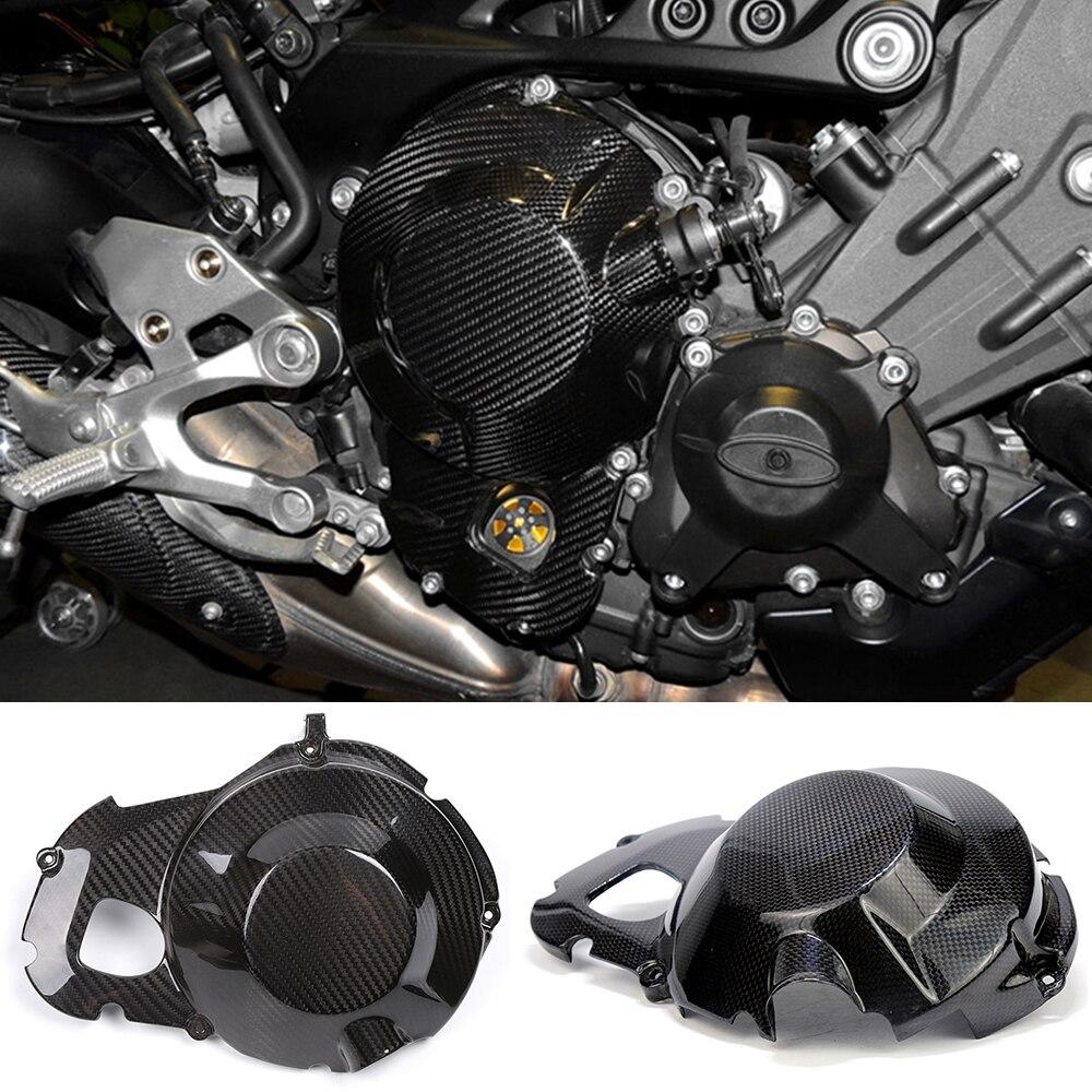 Мотоцикл углеродного волокна правый Двигатель статора Чехол вилки сцепления Крышка протектор для YAMAHA MT09 МТ-09 ФЗ-ФЗ 09 09 2013-2017