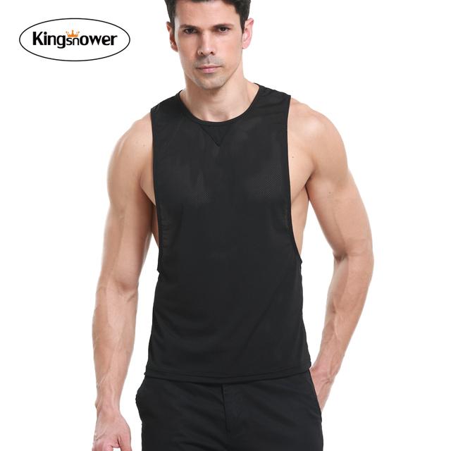 A Veste dos homens 2016 Marca o Verão Jerseys de Malha Respirável Parte Superior Do Tanque de Musculação Camisas JA3026