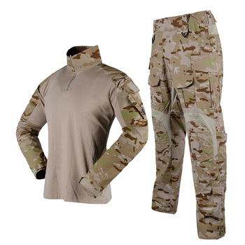 Woodland Camouflage Hunting Clothes Military Uniform Tactical G3 Frog Set Combat Suit Airsoft Sniper Shirt + Pants Camuflaje