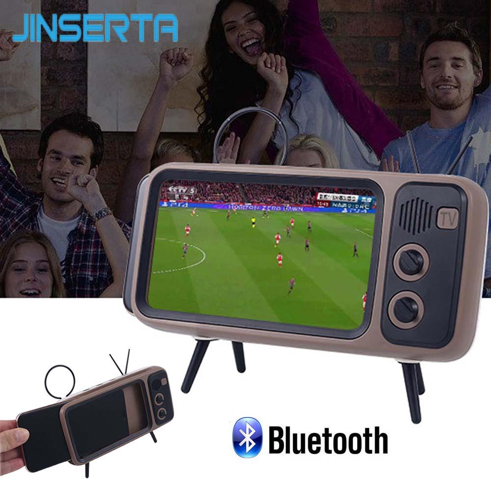 JINSERTA Falante Sem Fio Bluetooth Com o telefone Móvel TV suporte Speaker Portátil Sem Fio Handsfree Smartphones