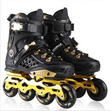 цена на Professional Roller Skates Adult Skating 4 Wheels Inline Skates Shoes Men Women Rollerblade Skate Shoes Patines