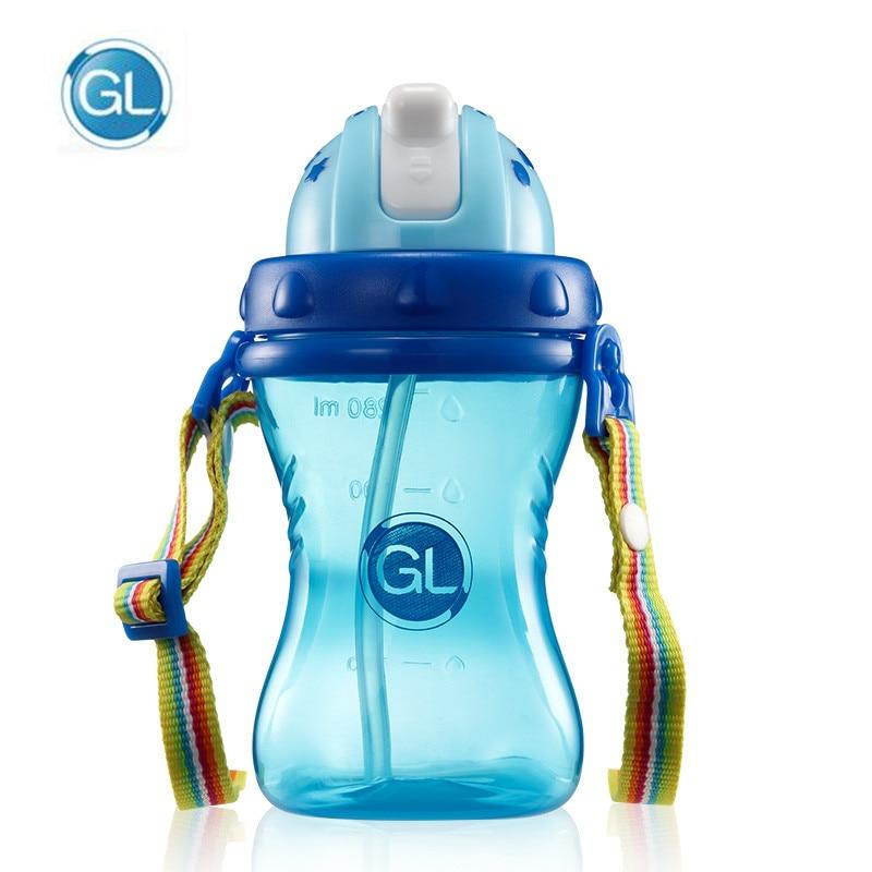 Gehorsam 280 Ml Bpa Frei Anti-rutsch Kinder Infant Trinkbecher Kind Ausbildung Trinken Flasche Fütterung Cup Ungiftig Flaschen Mit Verstellbaren Gürtel Attraktive Designs; Flaschenzuführung