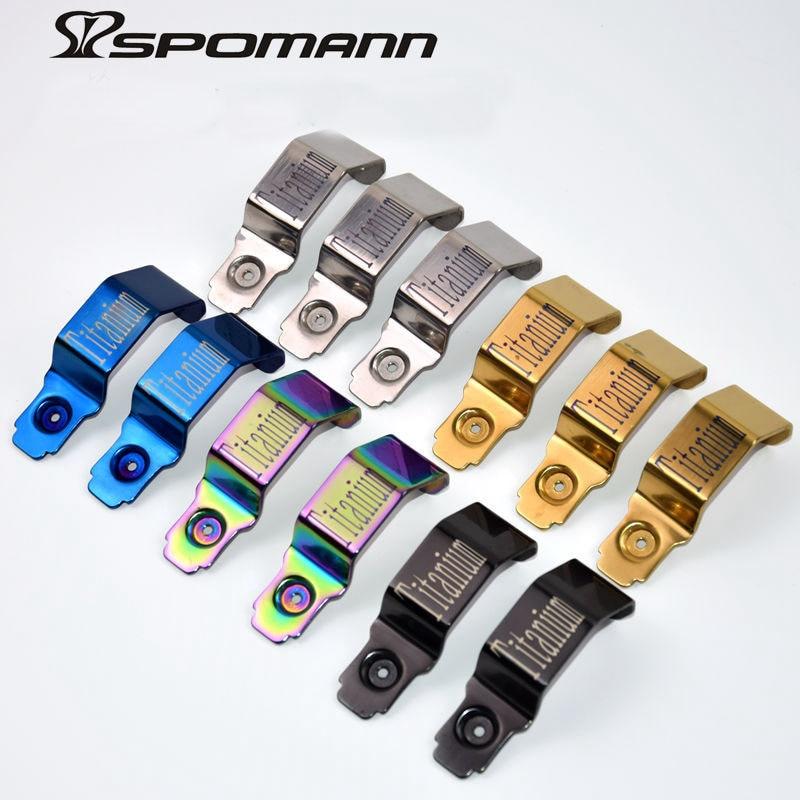 Spomann 초경량 22 그램 접는 자전거 앞 빛 티타늄 합금 손전등 브라켓 브롬톤 접는 자전거 액세서리