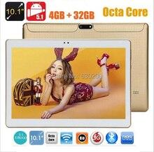 Envío libre 10 pulgadas tablet pc Octa core 4 GB RAM 32 GB ROM 1280*800 5.0MP dual sim Android 5.1 Bluetooth GPS IPS tabletas