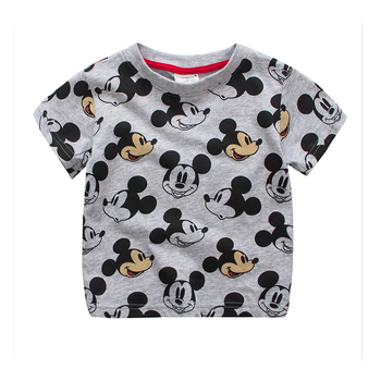 2019 Kids Fashion Boys Tshirt Tops Tees Cotton Short Sleeve Cartoon Mouse Style Boy Clothes Kid T-shirt for Children 18M-7T