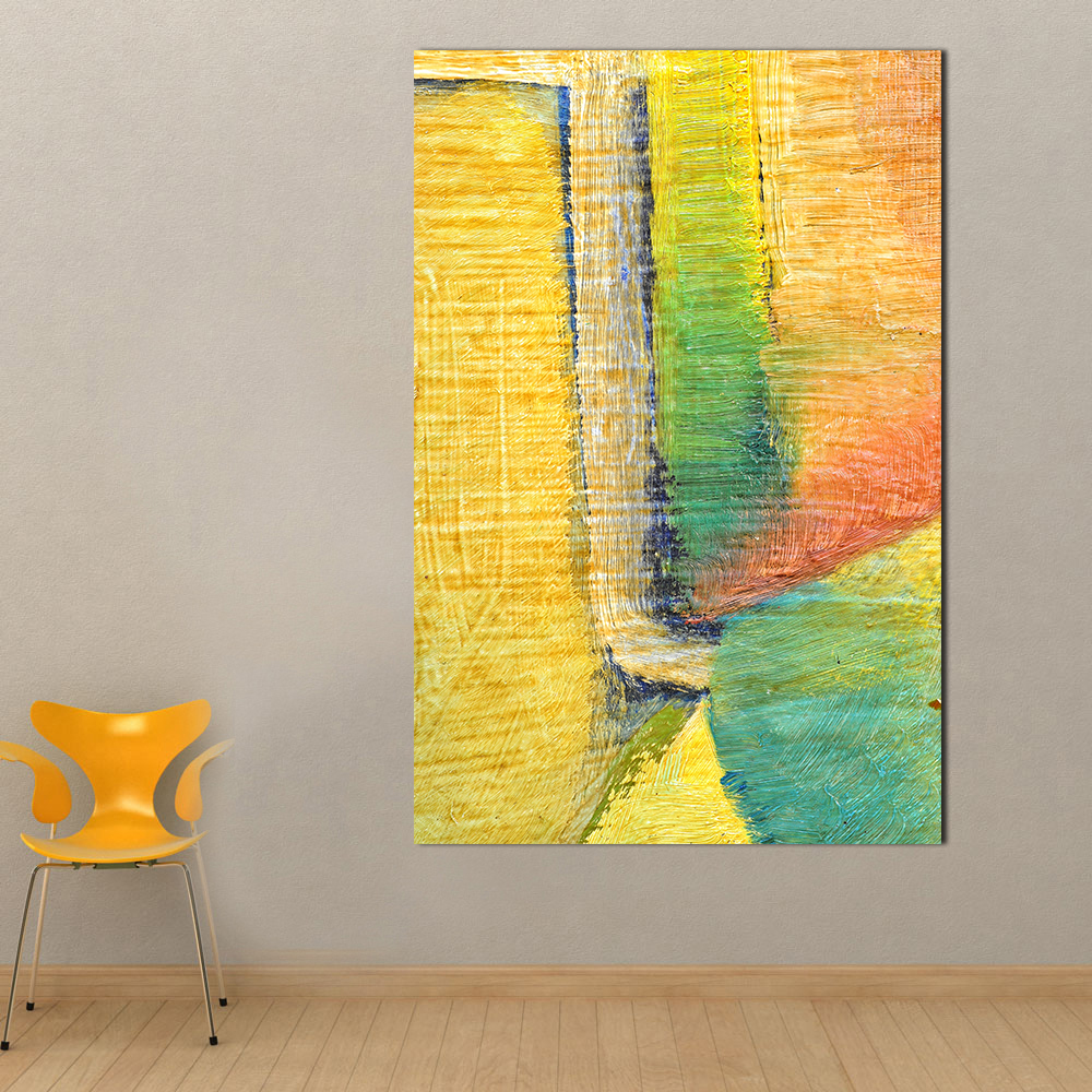 QKART Wall Decor Simple Abstract Oil Painting on Canvas Wall ...