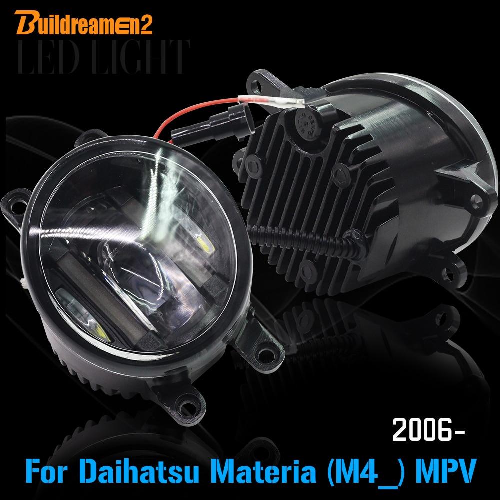Buildreamen2 2 х автомобилей светодиодные Противотуманные фары дневного света DRL Белый Аксессуары для Дайхатсу материа (M4_) МПВ 2006 года