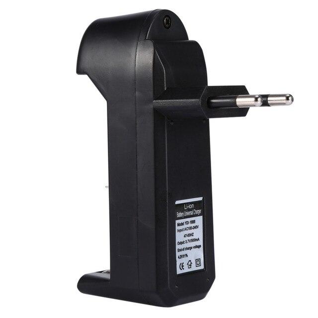 EU Caricabatterie Universale Per 3.7V 18650 26650 16340 14500 Li Ion Ricaricabile Batteria Singolo slot caricatore automatico