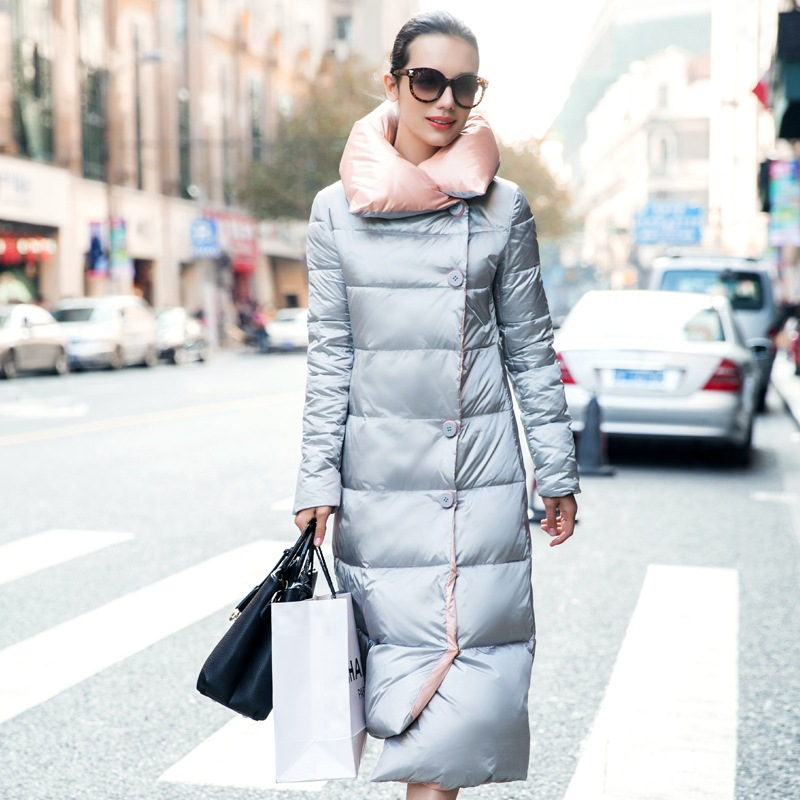 womens long puffer jacket 2016 winter women long down coat super ...
