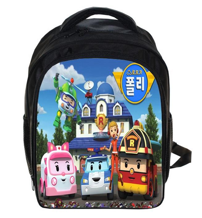 13 Inch Robocar Poli School Bags for Children kids School Backpack for Boys Girls Children's Backpacks Mochila