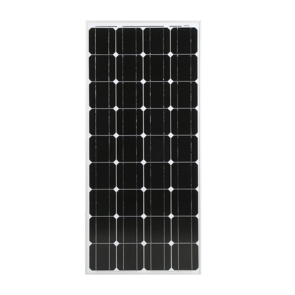 (Ship From DE)Monocrystalline 100W Solar Power System Module Solar Panel 12V Battery Charging For Off Grid RV Boat Motorhome