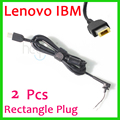 2 pcs dc dica plug conector do cabo adaptador de carregador de cabo f0r lenovo ideapad yoga