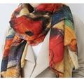 2016 Autumn and winter new style Graffiti imitation cashmere scarf fashion women soft printing all-match shawl