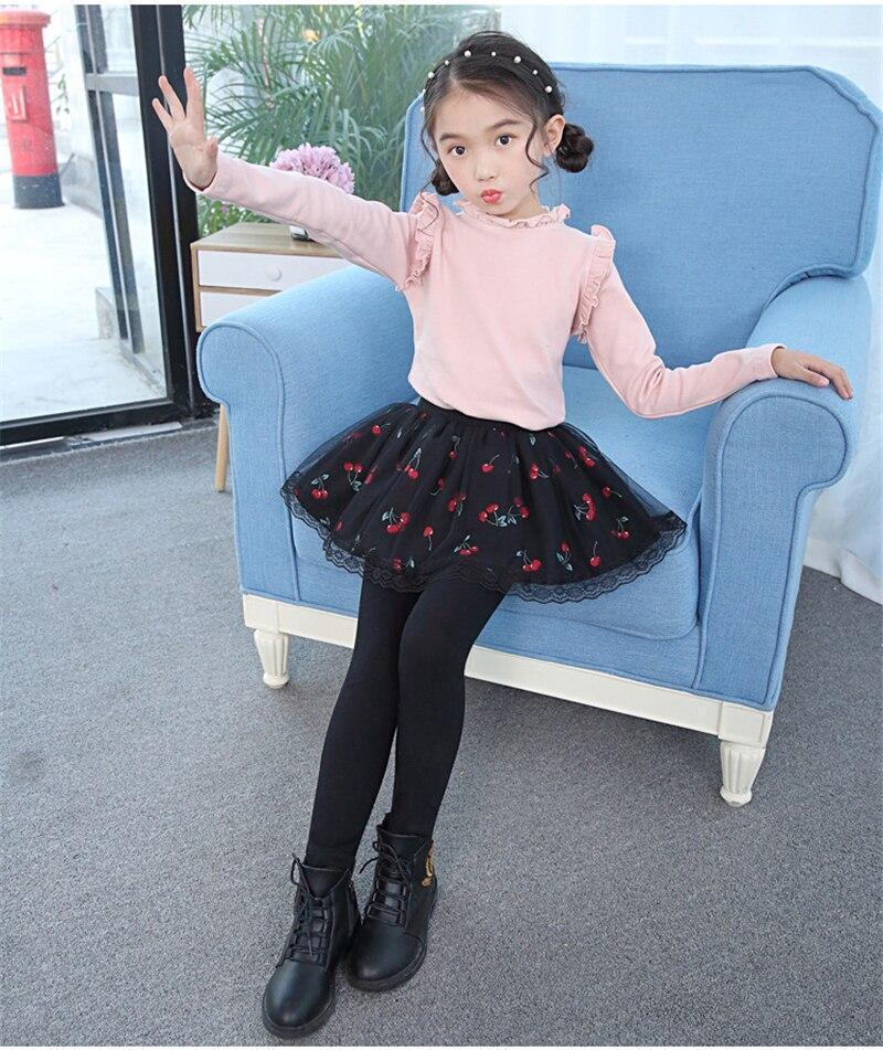 teenage girls legging with skirt12