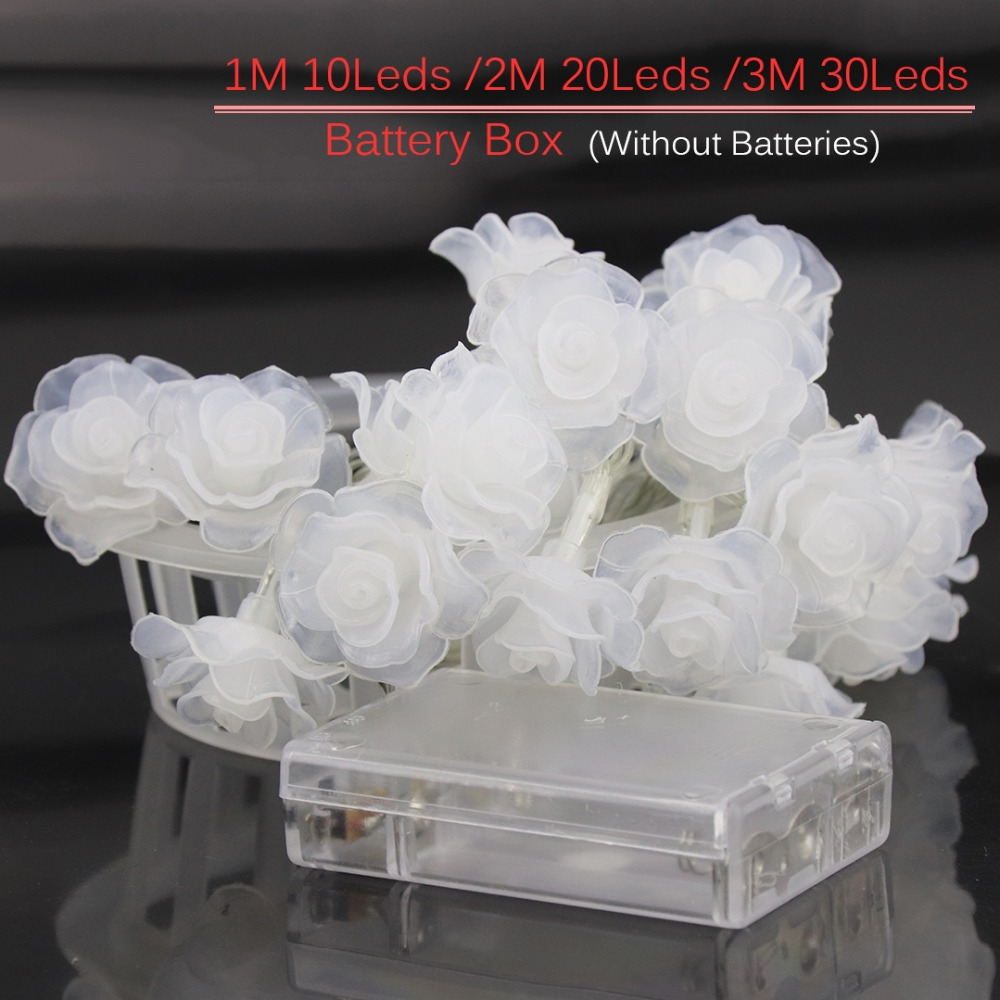 1 M-4 M Rose Slingers LED String Lights Night Decoratie Bloemen Licht - Vakantie verlichting - Foto 5