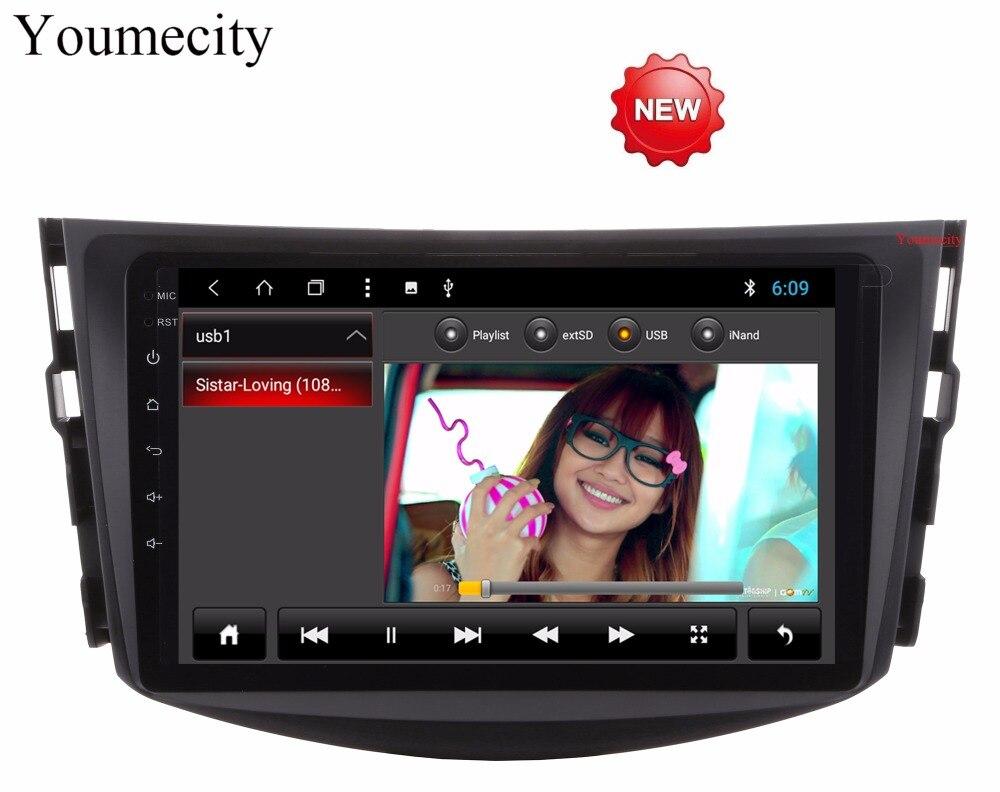 Youmecity Octa base Android 8.1 unité De tête de Voiture Lecteur Multimédia pour Toyota RAV4 Audio Vidéo Stéréo GPS de Navigation Radio RDS wifi
