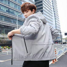 Spring Fashion New Mens Versatile Jacket Casual Hooded Coat