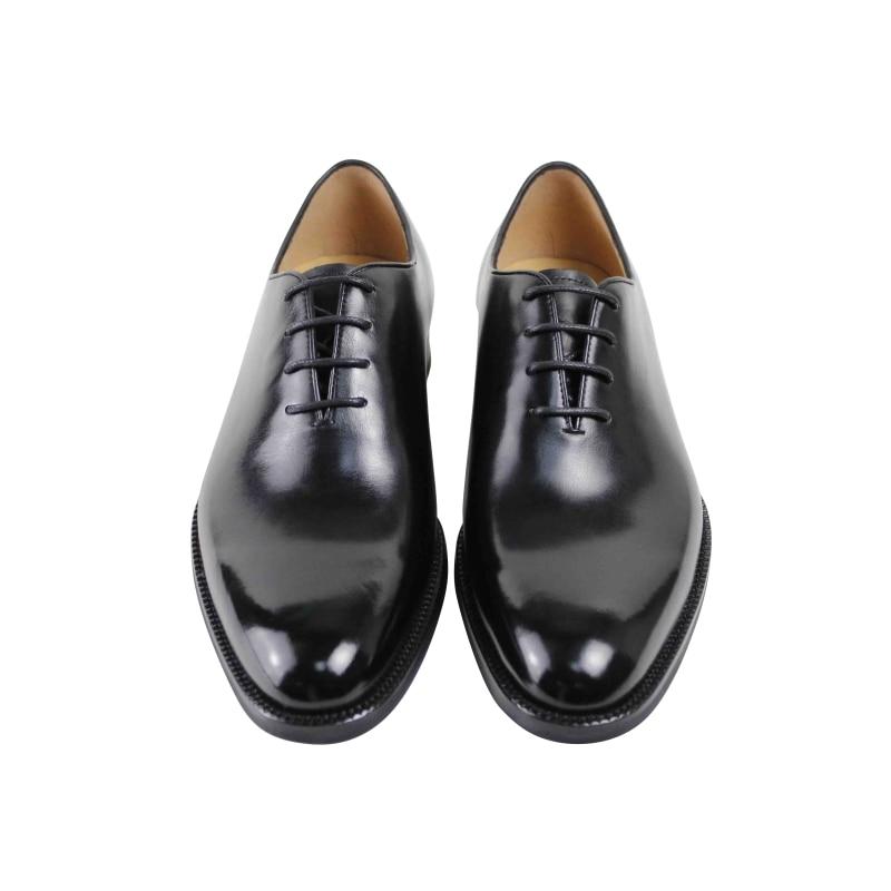 Vikeduo 2019 Classic Black Male Genuine Leather Shoe Formal Work