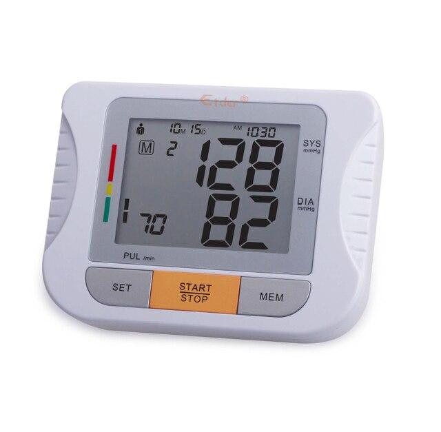 Arm Blood Pressure Pulse Monitor tonometer Digital Upper Portable blood pressure Health  care Monitors meters sphygmomanometer