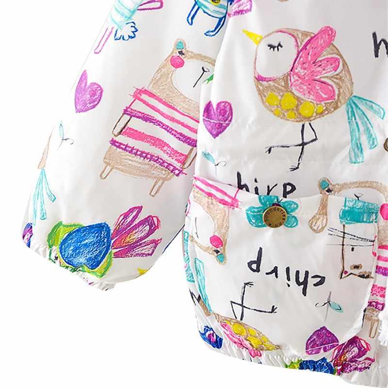 Детская Повседневная Толстовка с капюшоном и рисунком для мальчиков и девочек; свитер на молнии; сезон весна-осень; Тренч; детская куртка; Верхняя одежда; пальто