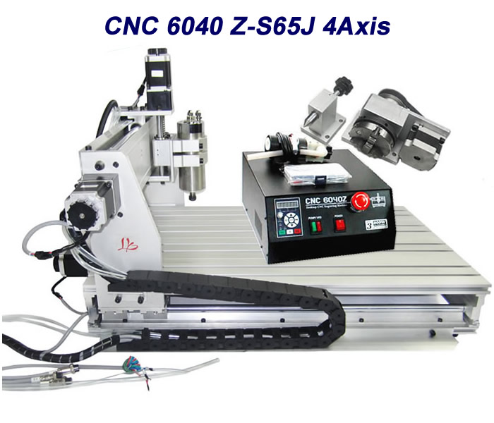CNC Router 6040Z-S65J 4axis CNC engraving machine Wood lathe cutting machine cnc router wood milling machine cnc 3040z vfd800w 3axis usb for wood working with ball screw