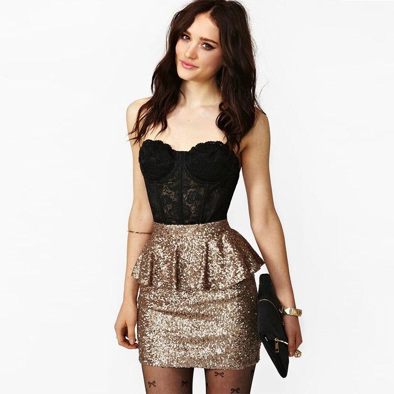 Online Buy Wholesale gold mini skirt from China gold mini skirt ...