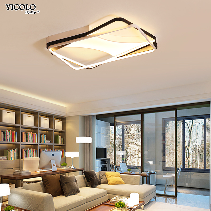 Dimmable Modern Led Ceiling Lights living room bedroom lamparas de techo Rectangle acrylic led Ceiling lights lamp fixtures rectangle acrylic modern led ceiling lights for living room bedroom lamparas de techo colgante square led ceiling lamp fixture