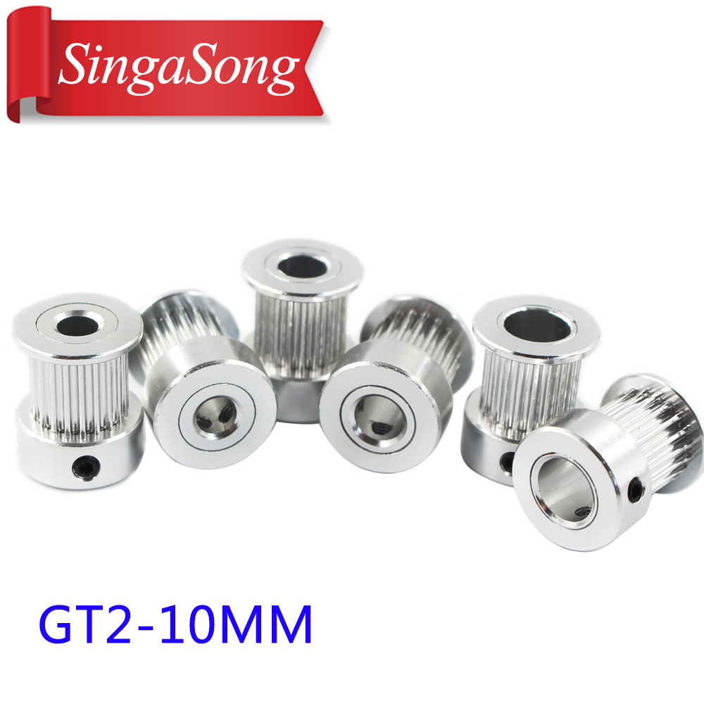 Bore 5/6.35/8 mm 2GT-20T 2GT-16T synchronous wheel pulley timing nbelt pulley gt2 synchronous round pulley gear powge 8pcs 20 teeth gt2 timing pulley bore 5mm 6mm 6 35mm 8mm 5meters width 6mm gt2 synchronous 2gt belt 2gt 20teeth 20t
