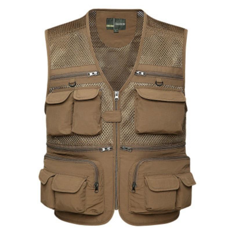 2018 Summer Sleeveless Jackets Vest Men Tactical Unloading Multi Pockets Waistoats Male Life Tool Photographers 4XL Black