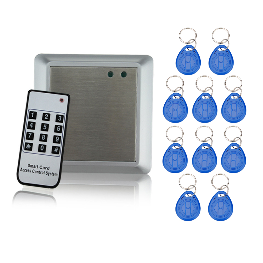 Hot Sale Metal RFID Access Control Keypad Proximidad Rfid Card Reader Copier for Access Control system with 2000 cards capacity contact card reader with pinpad numeric keypad for financial sector counters