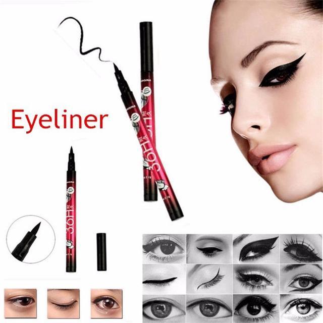 36 H Водонепроницаемый черный карандаш для глаз Liquid длительный составляют инструменты Красота Eye Liner Pencil