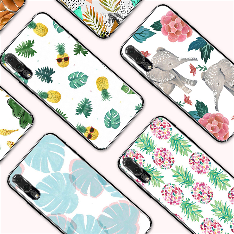 Cellphones & Telecommunications Eleteil Elephant Fruit Case For Huawei P10 P20 P10lite Pineapple Banana Leaf Silicone Back Cover For Huawei P20 Plus E40