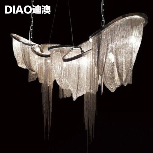 Italy Stream Chandelier Hanging Chain Lamp Post Modern Aluminum Tassel Luxury Hotel Project Designer On Aliexpress Alibaba Group