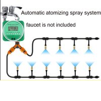 Automatic watering artifact copper atomizing nozzle spray irrigation set greenhouse garden timing watering spray system