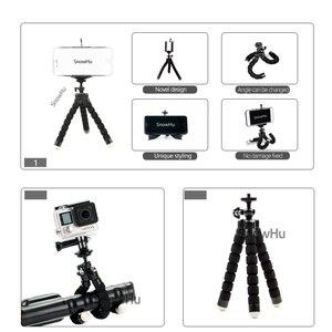 Image 3 - SnowHu Miniฟองน้ำOctopusขาตั้งกล้องสำหรับiPhone Xiaomi Huawei Smartphoneขาตั้งกล้องสำหรับGopro 9 8 7 6อุปกรณ์เสริมphoneLD06