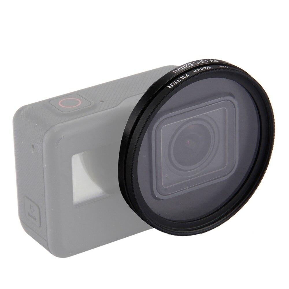 FILTRO UV 52mm con Coperchio Obiettivo per Gopro Hero 5 /& 6